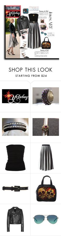 """Yxtabay  Jewelry....LetsGetLoud group"" by deborah-518 ❤ liked on Polyvore featuring Plein Sud, Proenza Schouler, Oscar de la Renta, Yves Saint Laurent and Tiffany & Co."