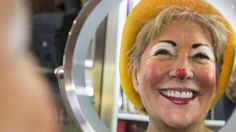 """Sandy """"Sunshine the Clown"""" Johnson is an Eastern Shore institution, complete with a red glitter heart on the tip of her nose. Johnson makes the transformation with simple makeup and a friendly smile."""