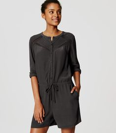 Primary Image of Lacy Drawstring Romper