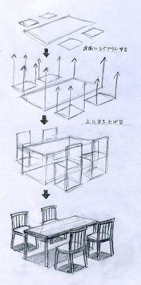 Como hacer una mesa con sillas