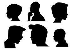 Boys Side Face silhouette