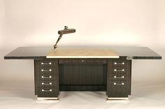 Art Deco Desk by  Designer Jacques-Emile Ruhlmann.