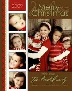 A blog with links to even more FREE Christmas Photo Card templates.