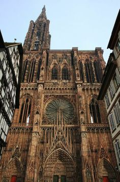 Cathédrale Strasbourg Strasbourg Cathedral, France, Worlds Tallest Building from 1647 to 1874 (227 years)