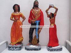 Ciganos - Diversos modelos e tamanhos. ArtCunha Artesanato em Gesso. Imagens de Gesso, com ou sem pintura. Est. Bandeirantes, 829, Taquara, Rio de Janeiro, RJ. Tel: (21) 2445-1929 / 8558-3595. #Estatua #Estatuas #Escultura #Esculturas #Cigana #Ciganas #Cigano #Ciganos