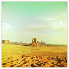 Monument Valley, Utah - one day. on that road trip. when we can rent a helicopter, or a cabriolet - Thelma and Louise style