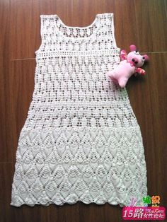 Crafts for summer: white dress for women, free crochet pattern ...