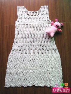 Crafts for summer: white dress for women, free crochet pattern ...