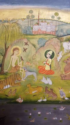 Leila and Majnun Hyderabad early 18thC Ouseley Album. Per Wm. Dalrymple's Twitter page.