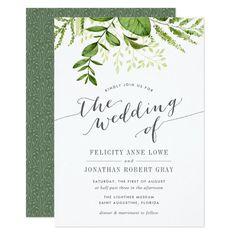 Wild Meadow Botanical Wedding Invitation
