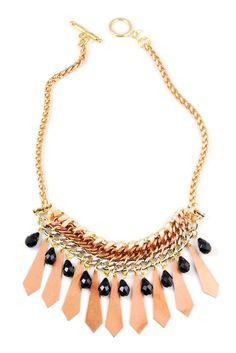Gypsy Threaded Necklace by Hen Jewelry