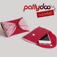"""Al presentar el Caso """"Bowie"""" por pattydoo - Emmaline Bolsas: patrones de costura y accesorios monedero"""