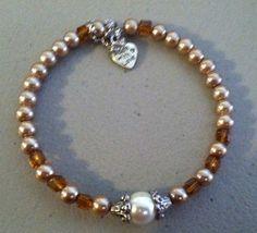 Gorgeous Citrine Crystal Bracelet