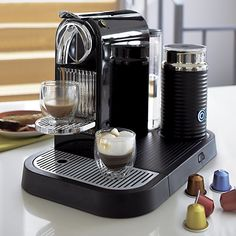 Nespresso® Citiz Black Espresso Machine with Aeroccino Frother in Espresso Makers | Crate and Barrel