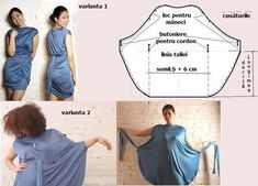 Lots of easy dress patterns by elvia Diy Clothing, Sewing Clothes, Clothing Patterns, Dress Patterns, Sewing Patterns, Vestido Convertible, Convertible Clothing, Sewing Tutorials, Sewing Crafts