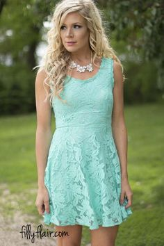Still Stunning in Lace in Mint | This is the perfect dress to wear to a wedding!