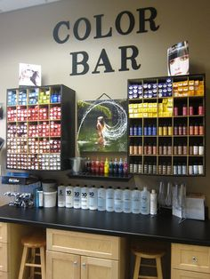 color bar so cool #salon #ideas