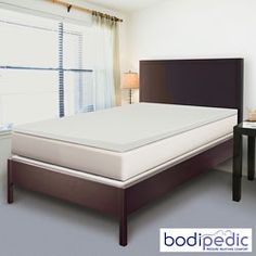 @Overstock - This premium memory foam topper gently cradles your body contours for superior personalized comfort and exceptional head-to-toe support. Evenly distributes your body weight reducing painful pressure points and improves circulation.http://www.overstock.com/Bedding-Bath/Bodipedic-2-inch-Twin-XL-size-Memory-Foam-Mattress-Topper/6141994/product.html?CID=214117 $53.99