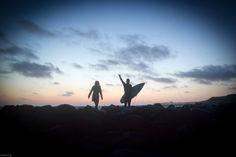 night surf in denmark around midsummer