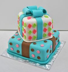 present decorated cake - Google Search