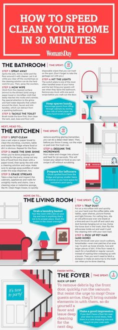 Here's how to clean your house in under 30 minutes. #speedcleaning