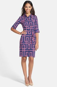 Maggy London Print Jersey Shirtdress | Nordstrom