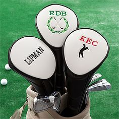 Personalized Golf Club Head Cover - Fun Stocking Stuffer