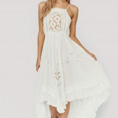 ISLA BONITA EMBROIDERED DRESS