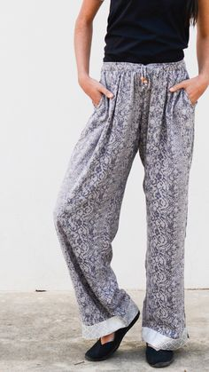 Our favorite loungewear pants in beautiful prints that are also perfect for a casual outfit. Every pairs empowers the women who made them through living-wage employment. Fashion for good!