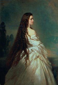 Elizabeth of Bavaria (1837-98), wife of Emperor Franz Joseph I of Austria (1830-1916) (oil on canvas)