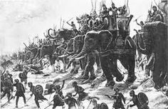 Zama A battle in Carthage around 19 October 202 BC. There were elephants as well as ground infantry. Scipio Africanus of Rome won. Hannibal of Carthage lost. It was the last battle in the Second Punic War. Ancient Rome, Ancient Greece, Ancient History, Hannibal Barca, War Elephant, Elephas Maximus, War Pigs, Punic Wars, Ancient Civilizations