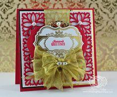 Christmas Card Making Ideas by Becca Feeken using Spellbinders