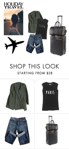 """""""Holiday Travel"""" by lululafitte on Polyvore featuring moda, Madewell, Sandro, STELLA McCARTNEY y Plane"""