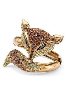 PalmBeach Jewelry Crystal Fox Hinged...     $72.00