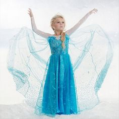 2016 New  Girls Dress Long-Sleeve Spring and Summer  Anna Elsa Dresses Kids Clothes Children's Clothing Party Snow Queen Costume #>=#>=#>=#>=#> Click on the pin to check out discount price, color, size, shipping, etc. Save and like it!