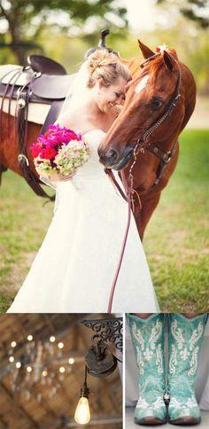 Hochzeitsidee 2014 Romantische Pferd Themen Hochzeit Brautkleider ...