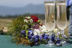Let us supply the champagne after your mountain top ceremony. Mountain Weddings, Rehearsal Dinners, Vows, Special Events, Destination Wedding, Champagne, Scenery, Reception, Beautiful