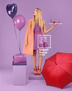 Throwback Thursday - Here's a full recap of how Radiant Orchid made February one fancy month! #RadiantOrchid #ColoroftheYear