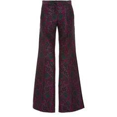 Roberto Cavalli     Wide Leg Paisley Pants (3.615 BRL) ❤ liked on Polyvore featuring pants, roberto cavalli, print, mid rise pants, wide-leg pants, wide leg patterned pants, paisley pants and patterned pants