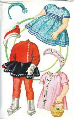 Vintage Sewing Cards and Paper Dolls