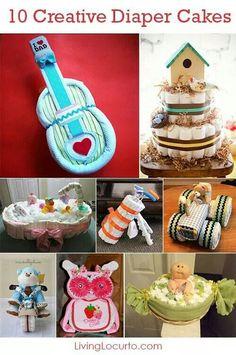 Creative diaper cakes