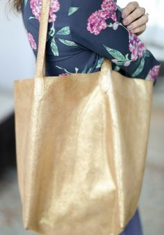 Leather Tote Bag Tutorial by Erin from Sewbon