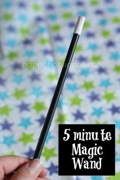 homemade 5 minute magic wand - happy hooligans, magician costume/pretend play