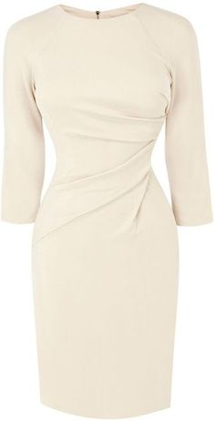 KAREN MILLEN ENGLAND Draped Front Jersey Dress