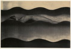 """The Wave,"" a 1925 photograph by the Czech artist Frantisek Drtikol."