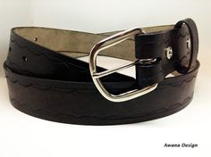 Beautiful black true leather belt $45.00