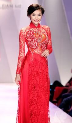 Red Wedding Ao Dai WR270