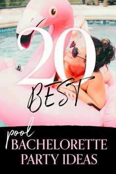 Planning the bachelorette party and making sure everyone has a great time can be challenging. You can't go wrong with fun by the pool or beach. You can travel somewhere fun and party by the hotel pool or stay local and celebrate at a friends pool. We've put together some great pool ideas to get you started. Invitations? Check. Swimsuits Hotel Bachelorette Party, Bachelorette Weekend, Pool Party Themes, Party Ideas, Hotel Pool, Pool Ideas, Bridal Shower, Wedding Planning, Wedding Ideas