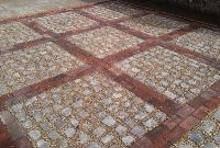 cobble and brick driveway