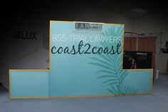 3-d signage such as this header graphic on stand-offs adds dimension to any flat wall mural display.